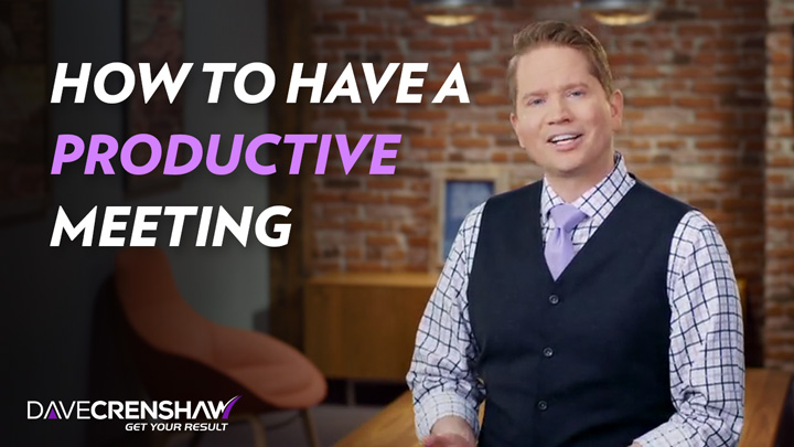 How to have a productive meeting
