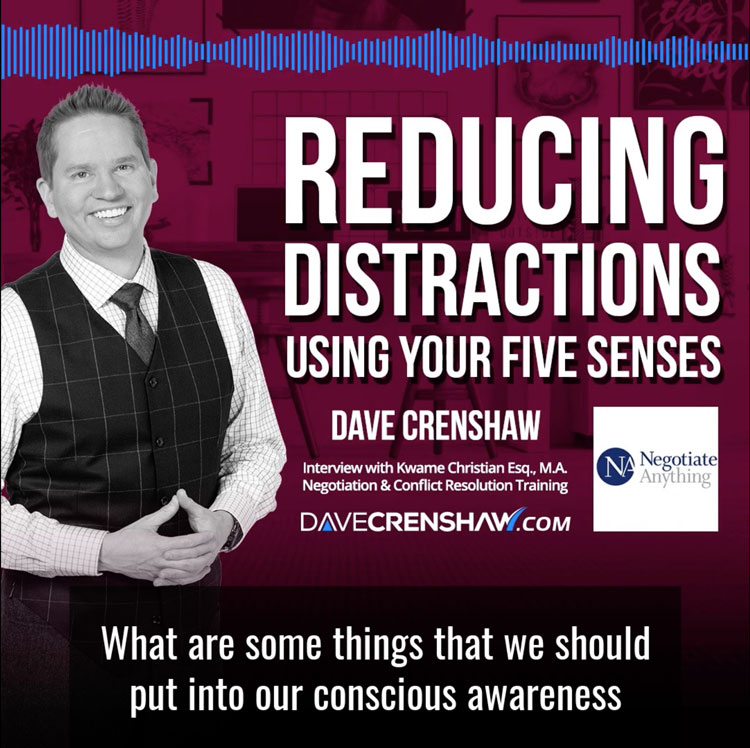Why reducing workplace distractions includes using your five senses