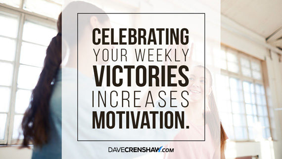 Celebrating your weekly victories increases motivation