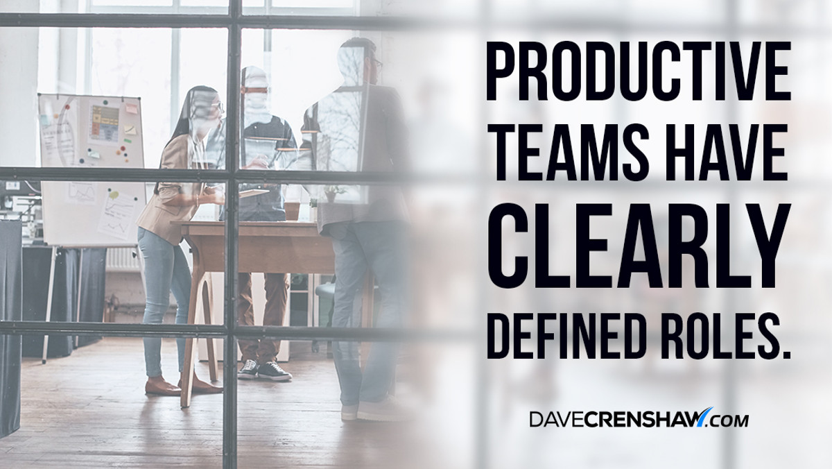 Productive teams have clearly defined roles
